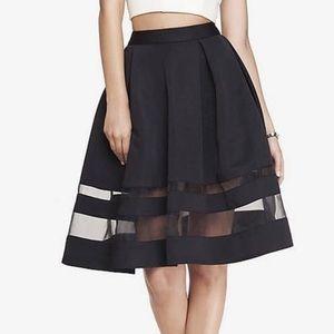 Express- High Waist Organza Midi Skirt